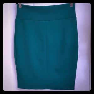 Lularoe teal Cassie skirt women's L